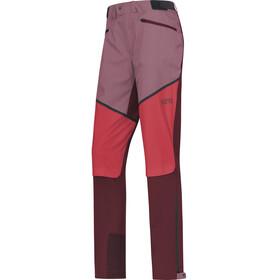GORE WEAR H5 Windstopper - Pantalones de Trekking Mujer - rosa/rojo